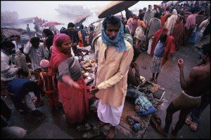 Les Manikarnika Ghat's Bénarès